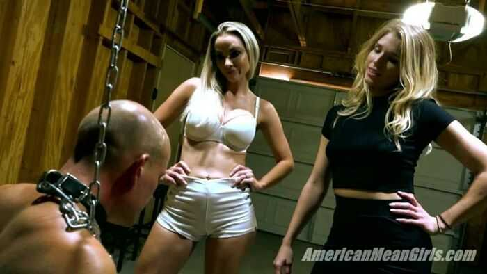 The Mean Girls - Goddess Platinum, Princess Amber - Slap and Kick The Loser (1080 HD) - Face Slapping
