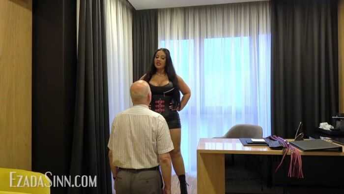 Mistress Ezada Sinn - From butler to whipping boy - Humiliation
