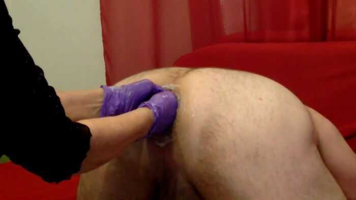 Fisting female domination to husbands asshole homemade [Amateur, Anal Fisting, Fist, Anal, Anus, Ass]